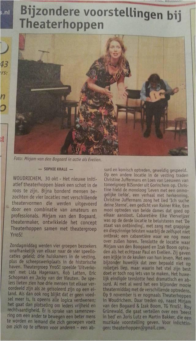 recensie Altena Nieuws 30 oktober 2014
