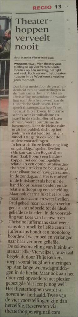 recensie Brabants Dagblad 27 oktober 2014