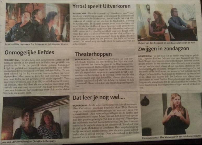 recensie Nieuwsblad 30 oktober 2014